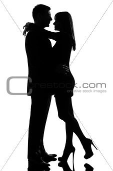 one lovers couple man and woman hugging tenderness