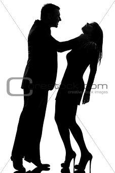 one couple man strangulation woman domestic violence