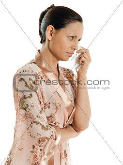 crying woman asian