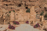 The Hadrien Gate roman avenue in nabatean city of  petra jordan