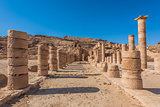 roman temple in nabatean city of  petra jordan