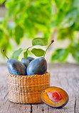 Fresh ripe plums