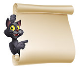 Halloween Cat Scroll