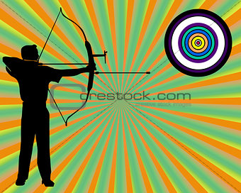 archer shoots at a target