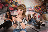 Serious Teen on Phone