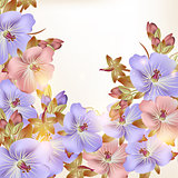 Beautiful vector background with flowers