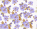 Beautiful vector floral pattern for wallpaper design
