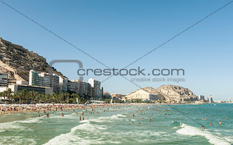 Beach in Alicante in southern Spain