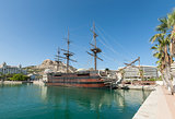 Alicante Harbour on Costa Blanca in Spain