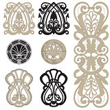 decorative elements set