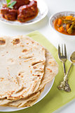 Indian food chapatti