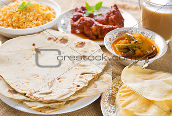 Chapatti roti or Flat bread