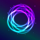 Abstract background with blue-purple shadingl plasma circle effe