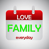 Love family everyday calendar icon