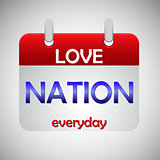 Love nation everyday calendar icon