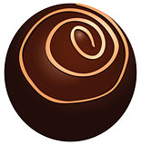 Round chocolate candy