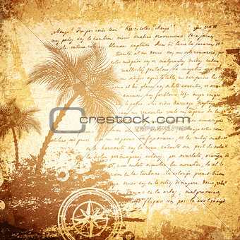 Old Travel Letter Background