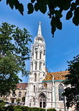 Matthias Church, in Budapest, at the front of Fisherman's Bastio