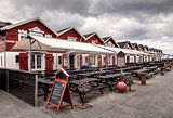 Traditional restaurants on Skagen harbor, Denmark