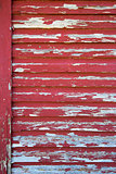 Old Red Barn with Peeling Paint