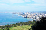 Honolulu Skyline -- from Diamond Crater Mountain