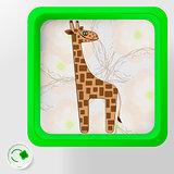 Cheerful giraffe Environmental protection