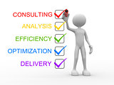 Consulting, analysis, efficiency, optimization, delivery