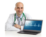 doctor with laptop. Health care concept