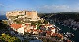 Bonifacio and marina, Corsica, France