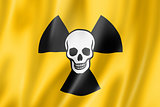 radioactive nuclear symbol death flag