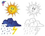 Coloring image weather 3