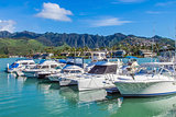 Koko Marina and the Koolau Mountains