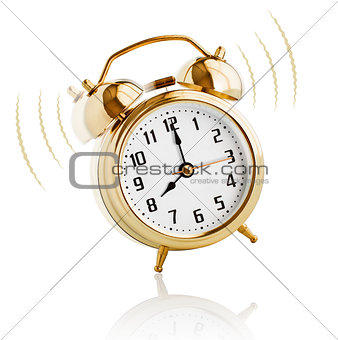 Alarm clock ringing at 8 o'clock morning