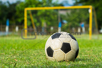 football (soccer) and goal