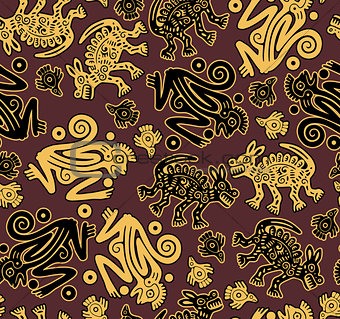 African indigenous seamless wild animal texture