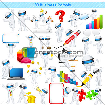3d Business man in fully scalable vector