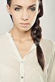 luxury closeup young girl portrait