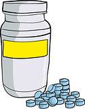 Bottle of medicinal pills