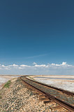 Railroad in Desert Vertical