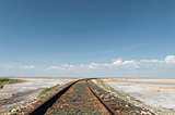Railroad in Desert