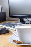Coffee on office desk