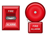 fire alarm vector illustration