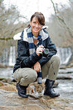 photographer on the rocks