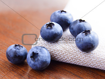 Closeup Image of Ripe Sweet Blueberries