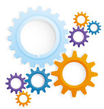 Cog wheels colored vector