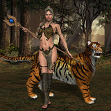 Woman Warrior and Cat