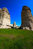 Fairy chimneys rock formations. Turkey, Cappadocia, Goreme.