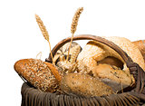 Bread in basket