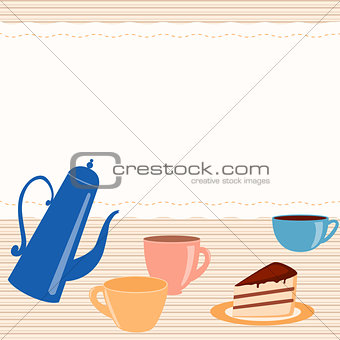 Card with tea related elements