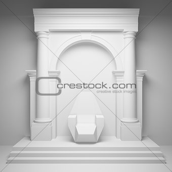 Arch with throne